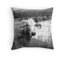 Water watcher Throw Pillow