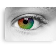 Macro Multi Colour Eye Canvas Print