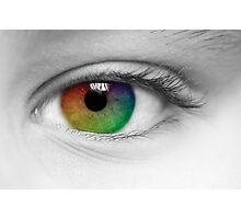 Macro Multi Colour Eye Photographic Print