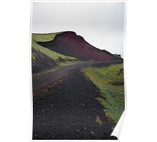 Volcanic mound, Berserkjahraun Lava Field, Snæfellsnes, Iceland Poster