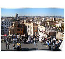 """""""Spagna Bolognese"""" (Spanish Steps, Rome) Poster"""