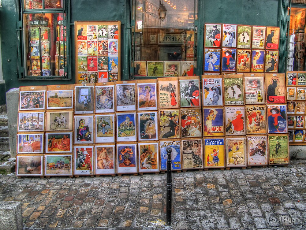 """""""A little bit of history repeating"""" (Montmartre, Paris) by Paul Ryan"""