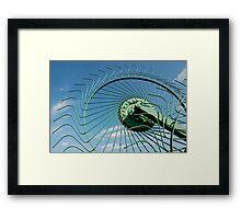 Wheel of Hay Rake  Framed Print