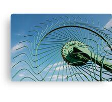 Wheel of Hay Rake  Canvas Print