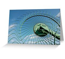 Wheel of Hay Rake  Greeting Card