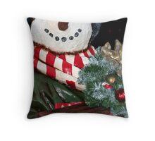 Frosty The Snowman Throw Pillow