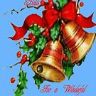 Christmas Bells,Card by MaeBelle