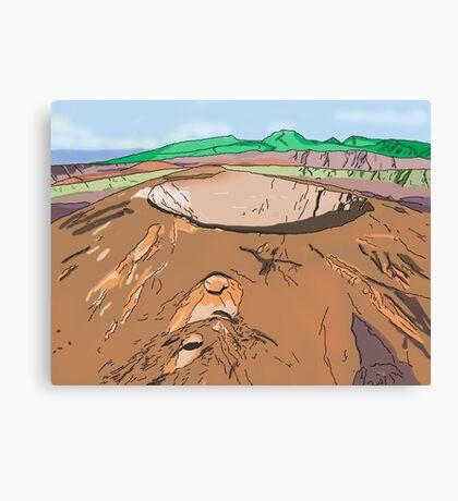 Art & Deco (by Austral Monkey) • Volcano Canvas Print