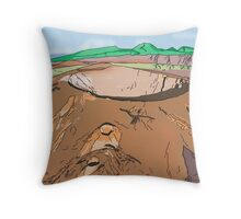 Art & Deco (by Austral Monkey) • Volcano Throw Pillow