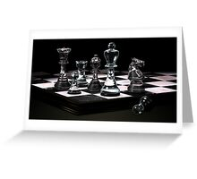 Glass Chess Set Greeting Card