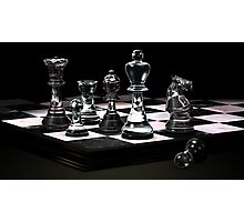 Glass Chess Set Photographic Print