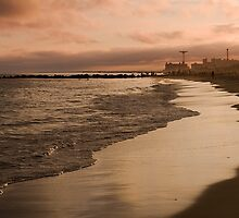 Sunset on Coney Island by Jean-Pierre Ducondi