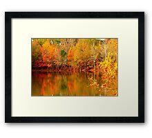Autumn Pond Framed Print
