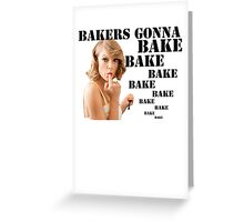 Shake it off/ Bake it off, Taylor Swift Greeting Card