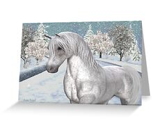 Winter Snow .. the tale of a wild horse Greeting Card
