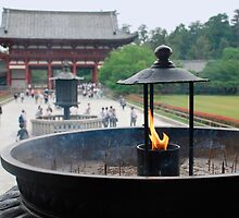 Incense Burner at Todaiji Temple  by jojobob