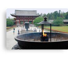 Incense Burner at Todaiji Temple  Canvas Print