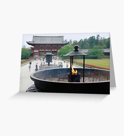 Incense Burner at Todaiji Temple  Greeting Card