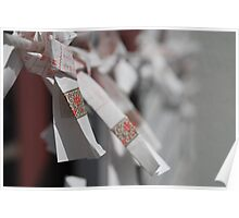 Omikuji Charms at Fuji Shrine, Japan  Poster