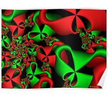 Christmas Ribbons Poster