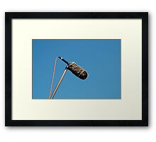 Shotgun Microphone with Wind Protector  Framed Print