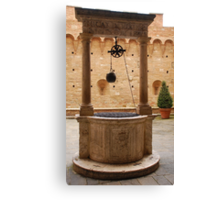 Well in Siena  Canvas Print