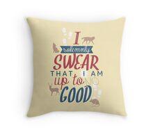 mischief managed! Throw Pillow