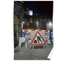 Road Works Poster