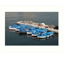 Fishing Boats, Gallipoli Harbour  Art Print