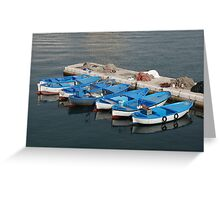 Fishing Boats, Gallipoli Harbour  Greeting Card