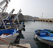 Fishing Boats in Gallipoli Harbour  by jojobob
