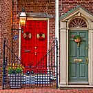 Red Door, Teale Door by Ann J. Sagel