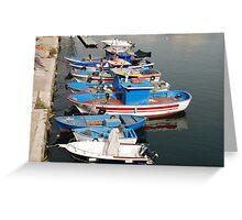 Gallipoli Harbour  Greeting Card