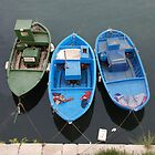 Three Wooden Fishing Boats  by jojobob