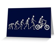 Evolution BMX Greeting Card