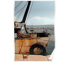 Rusted Trawler at Izola  Poster