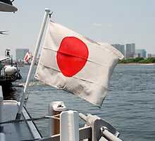 Flag on Japanese Boat  by jojobob