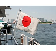 Flag on Japanese Boat  Photographic Print