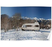A-Class Motorhome in Snow  Poster