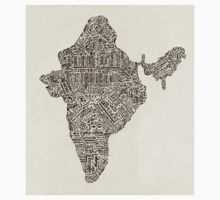 Lettering map of India Kids Clothes