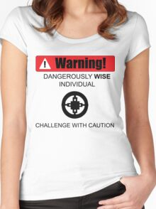 Warning! Dangerously Wise Sign Women's Fitted Scoop T-Shirt