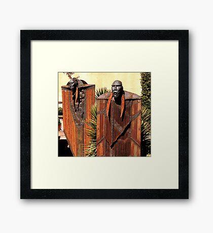 Iron Giants Framed Print