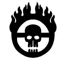 Mad Max - Warboy Skull Wheel  Photographic Print