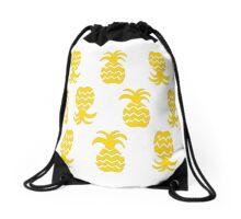 7 DAYS OF SUMMER- TROPPOBOHO pineapple crush Drawstring Bag