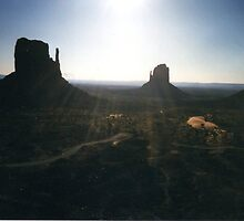 Evening Walk- Monument Valley by johntbell