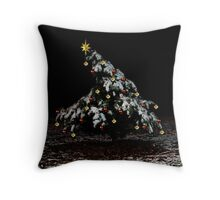 Droopy Lil' Christmas Tree Throw Pillow
