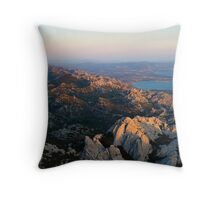 From high peaks to the sea Throw Pillow