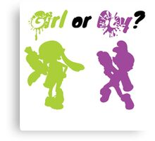 Girl or Boy? (2) Canvas Print