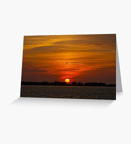 Sunset over Sarasota Bay Greeting Card