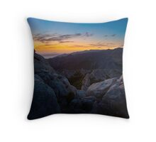 The night is taking over V Throw Pillow